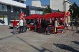 Infostand am Roten Turm in Chemnitz, 5. Mai 2014